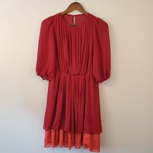 Jessica Simpson red and orange dress size 4